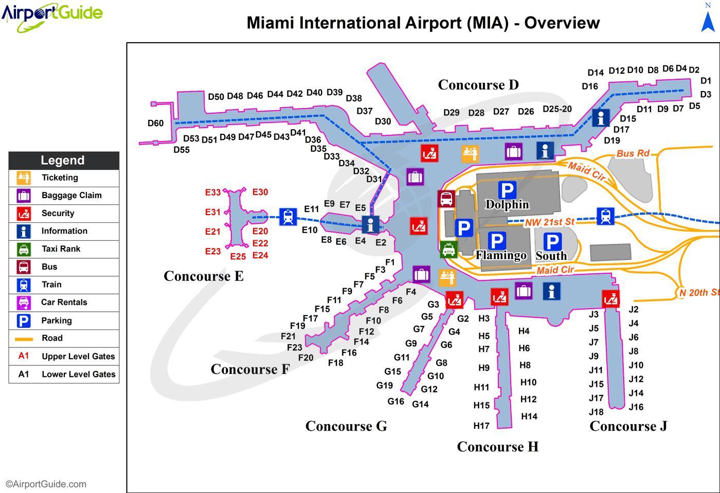 mapa aeroporto Aeroporto internacional de Miami mapa   Mapa do aeroporto  mapa aeroporto